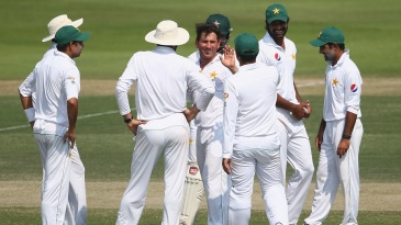 Yasir Shah dismissed last man Shannon Gabriel to finish with 4 for 86