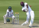 Jason Holder tries to muscle one over the leg side , Pakistan v West Indies, 2nd Test, Abu Dhabi, 3rd day, October 23, 2016