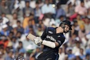 Matt Henry tries to get out of the way of a bouncer, India v New Zealand, 3rd ODI, Mohali, October 23, 2016
