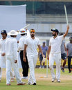 Harshal Patel and Mohit Sharma walk off after Haryana's win, Chhattisgarh v Haryana, Ranji Trophy 2016-17, Group C, Guwahati, 4th day, October 23, 2016