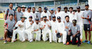 Haryana take time out for a team photo after their 161-run victory over Chhattisgarh, Chhattisgarh v Haryana, Ranji Trophy 2016-17, Group C, Guwahati, 4th day, October 23, 2016