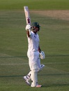 Sami Aslam celebrates his half-century, Pakistan v West Indies, 2nd Test, Abu Dhabi, 3rd day, October 23, 2016