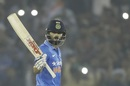 Virat Kohli celebrates his 26th ODI century, India v New Zealand, 3rd ODI, Mohali, October 23, 2016