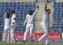 Zulfiqar Babar unsuccessfully appeals for lbw against Marlon Samuels, Pakistan v West Indies, 2nd Test, Abu Dhabi, 4th day, October 24, 2016