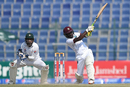 Jermaine Blackwood plays a lofted shot down the ground, Pakistan v West Indies, 2nd Test, Abu Dhabi, 5th day, October 25, 2016