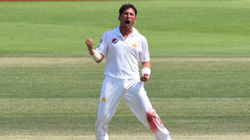 Yasir Shah completed his five-for before lunch