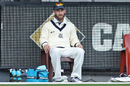 Glenn Maxwell sits near the boundary line after being named Victoria's twelfth man, Victoria v Tasmania, Sheffield Shield 2015-16, 1st day, Melbourne, October 25, 2016