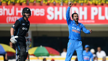 Kedar Jadhav endured many near misses during his first spell