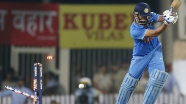 MS Dhoni was bowled for 11