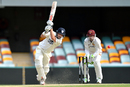 Ed Cowan drills the ball through the off side during his 95, Queensland v New South Wales, Sheffield Shield 2016-17, 3rd day, Brisbane, October 27, 2016
