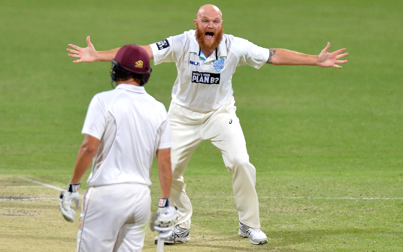 Beware the bald: if they don't mind getting sunstroke, what are the likes of Doug Bollinger going to do to you?