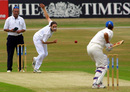 Terry McGregor bowls to Sarah Collyer, England v Australia, 2nd Women's Test, Headingley, 1st day, July 6, 2001