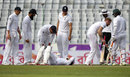 England's players show their concern for Mushfiqur Rahim, Bangladesh v England, 2nd Test, Mirpur, 1st day, October 28, 2016