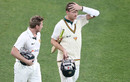 James Faulkner and Jackson Bird walk off the field, Victoria v Tasmania, Sheffield Shield, Melbourne, 4th day, October 28, 2016