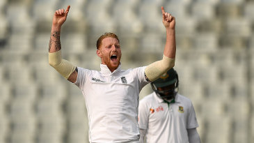 Ben Stokes had Mominul Haque taken at slip