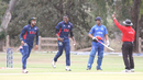 USA celebrates the runout of Steven Bremar, USA v Bermuda, ICC World Cricket League Division Four, Los Angeles, October 29, 2016