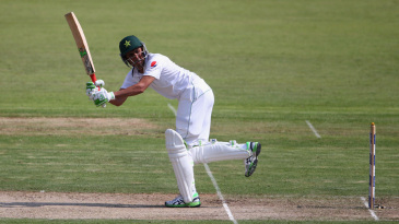 Younis Khan glances the ball towards fine leg