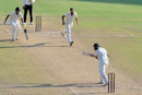 B Anirudh steers the ball into the off side, Himachal Pradesh v Hyderabad, Ranji Trophy Group C, Guwahati, 4th day, October 30, 2016