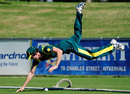 Joshua McClelland tries to save a boundary, Australia Under-19 v India Under-19, Townsville, April 7, 2012