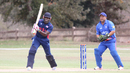 Steven Taylor drives through cover on his way to 56, USA v Bermuda, ICC World Cricket League Division Four, Los Angeles, October 29, 2016