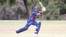 Fahad Babar cuts behind point on his way to an unbeaten 70, USA v Bermuda, ICC World Cricket League Division Four, Los Angeles, October 29, 2016