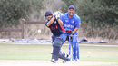 Ravi Timbawala drives through mid-on, USA v Bermuda, ICC World Cricket League Division Four, Los Angeles, October 29, 2016