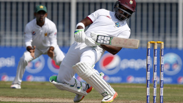 Darren Bravo ducks under a bouncer