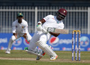 Darren Bravo ducks under a bouncer, Pakistan v West Indies, 3rd Test, Sharjah, 2nd day, October 31, 2016