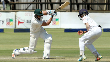 Graeme Cremer plays a cover drive