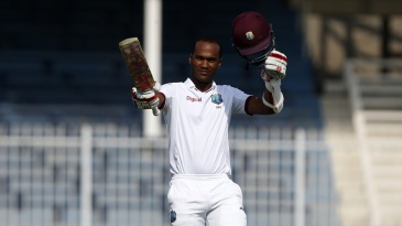 Kraigg Brathwaite reaches his century