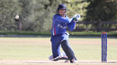 Damian Crowley pulls during his half-century, Italy v Jersey, ICC World Cricket League Division Four, Los Angeles, November 1, 2016