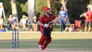 Corey Bisson lofts one over the leg side, Italy v Jersey, ICC World Cricket League Division Four, Los Angeles, November 1, 2016