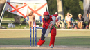 Jake Dunford pushes to the off side, Italy v Jersey, ICC World Cricket League Division Four, Los Angeles, November 1, 2016