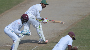 Sarfraz Ahmed nicks to Darren Bravo at slip