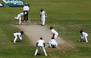 Devendra Bishoo bowls to Mohammad Amir, Pakistan v West Indies, 3rd Test, Sharjah, 4th day, November 2, 2016