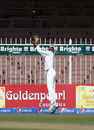 Roston Chase dives backwards at the long-on boundary, Pakistan v West Indies, 3rd Test, Sharjah, 4th day, November 2, 2016