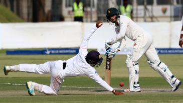 Graeme Cremer flicks one past a diving short leg