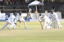 Carl Mumba played out 62 balls for his unbeaten 10, Zimbabwe v Sri Lanka, 1st Test, Harare, 5th day, November 2, 2016