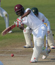 Kraigg Brathwaite comes out to meet the ball, Pakistan v West Indies, 3rd Test, Sharjah, 4th day, November 2, 2016