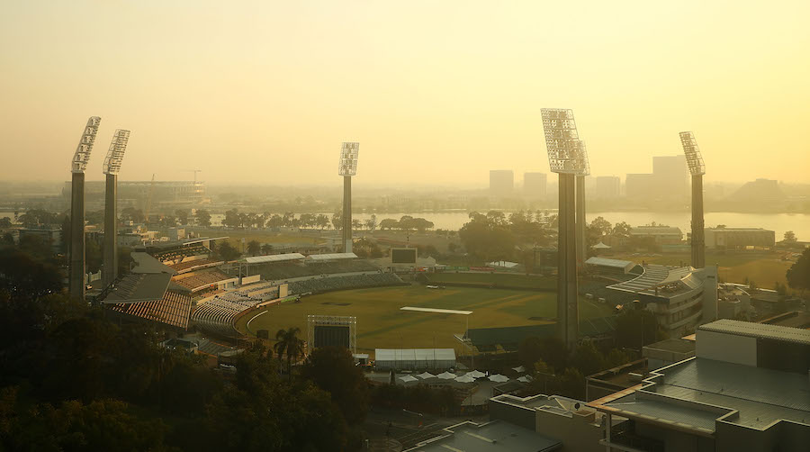 A view of the WACA on the first day of Australia's Test summer