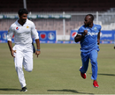 Sohail Khan and Jermaine Blackwood race each other in jest after a hard-fought series, Pakistan v West Indies, 3rd Test, Sharjah, 5th day, November 3, 2016