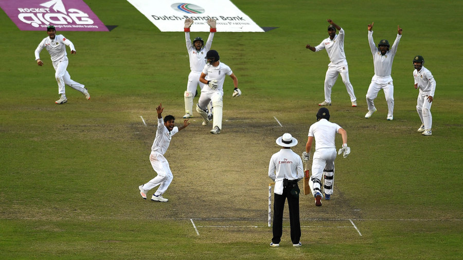 Mehedi Hasan wrapped up Bangladesh's maiden Test win against England with the wicket of Steven Finn