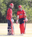 Anthony Hawkins-Kay and Jonty Jenner added 82 for the fifth wicket, USA v Jersey, ICC World Cricket League Division Four, Los Angeles, November 4, 2016