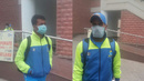 Bengal's Pragyan Ojha (L) and Manoj Tiwary (R) wear breathing masks to keep prevent inhalation of Delhi's polluted air, Bengal v Gujarat, Group B, Ranji Trophy 2016-17