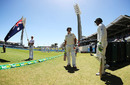 Mitchell Marsh and Usman Khawaja ahead of the final day's play, Australia v South Africa, 1st Test, Perth, 5th day, November 7, 2016
