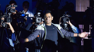 MS Dhoni at a brand launch event