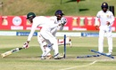 Kusal Perera attempts a run out of Craig Ervine, Zimbabwe v Sri Lanka, 2nd Test, Harare, 2nd day, November 7, 2016