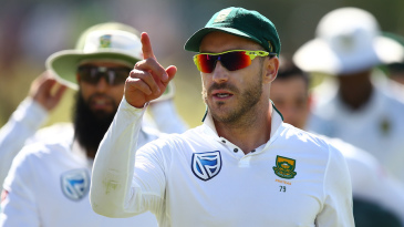 Faf du Plessis led his team to a famous victory