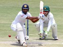 Dimuth Karunaratne shapes for a sweep, Zimbabwe v Sri Lanka, 2nd Test, Harare, 4th day, November 9, 2016
