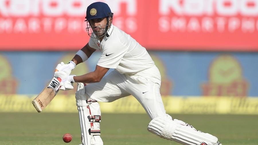 Gautam Gambhir plays through the off side